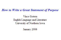 Personal Statement and Statement of Purpose Help for Students